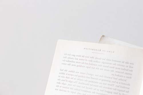 book book page on white surface page