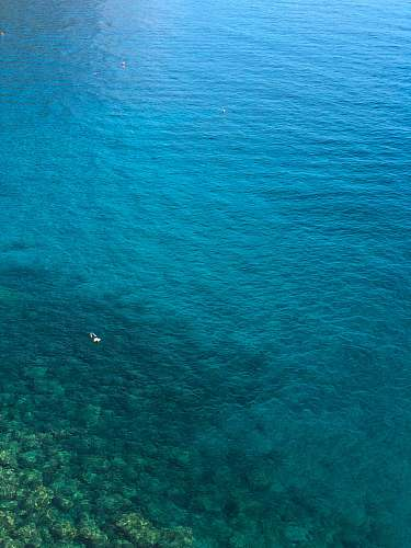 water aerial photo of ocean during daytime nature