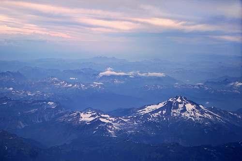 mountain aerial photo of rocky mountains mountain range