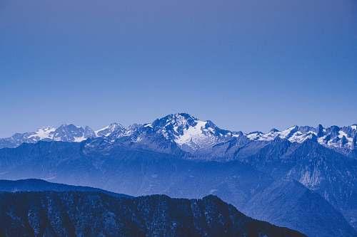 mountain aerial photography of glacier mountains peak