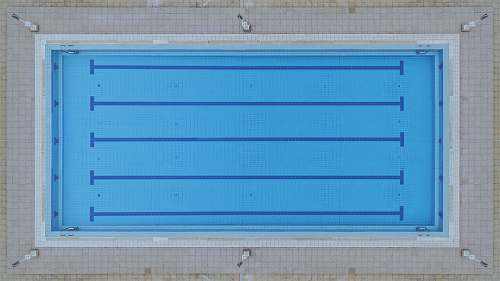 swimming aerial photography of Olympic pool pool
