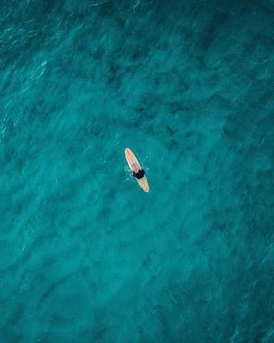 australia aerial photography of person on surfboard on sea bondi beach