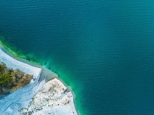 ocean aerial photography of sea shoe sea