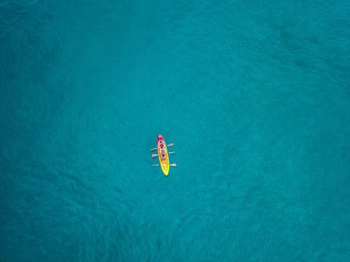 bird aerial view photography of boat on water flying