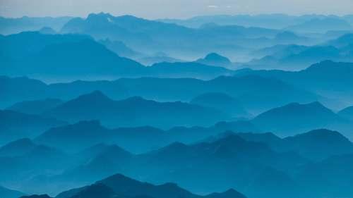 mountain bird's eye view of mountain nature