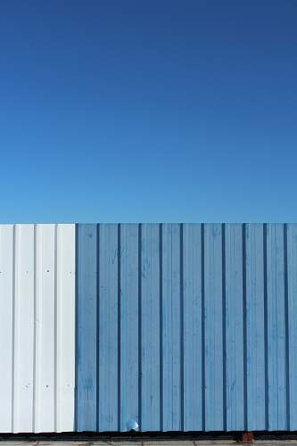 madrid blue and white metal fence spain