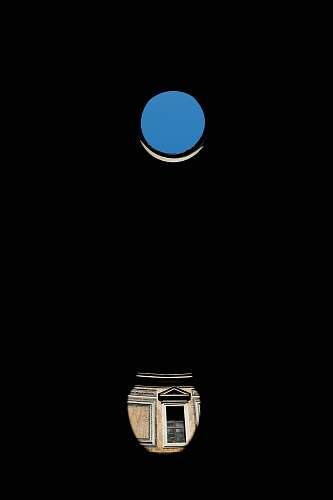 hole blue dot on top of brown vase illustration window