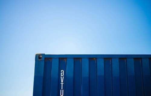 shipping container blue intermodal container saint-tropez