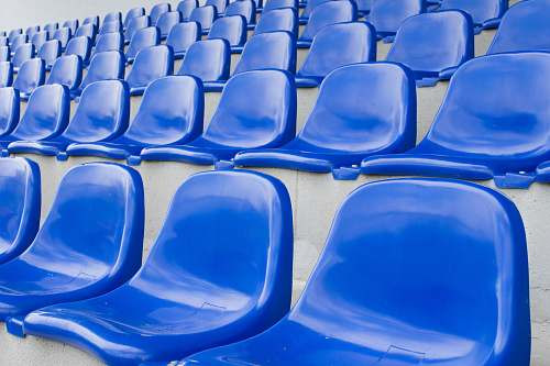 furniture blue plastic chairs chair