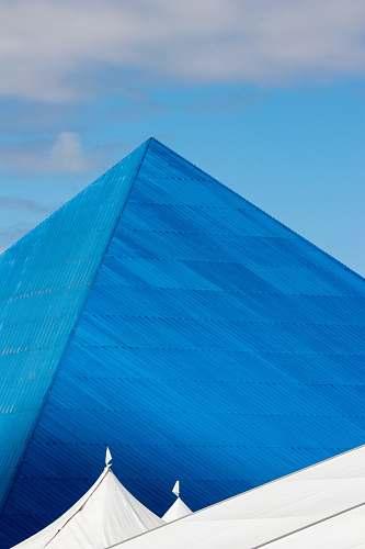 architecture blue pyramid landmark pyramid