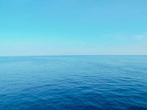 nature blue sea horizon