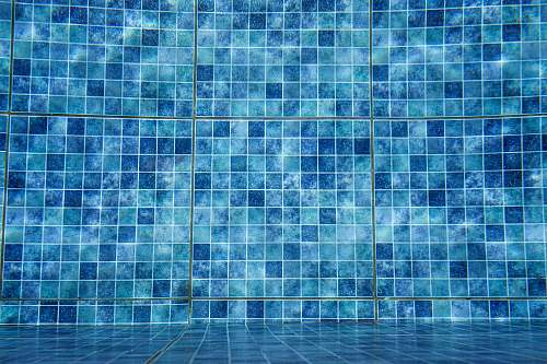 water blue tile wall nature