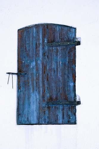 door blue wooden window gate