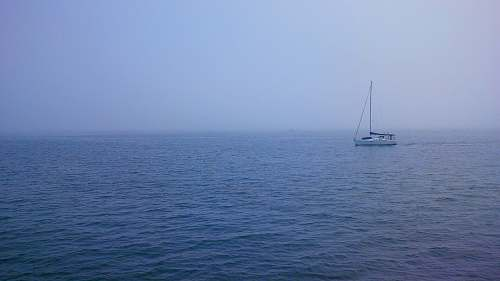 yacht boat at the middle of the sea boat