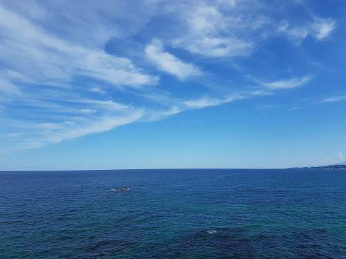 nature body of water across horizon sky