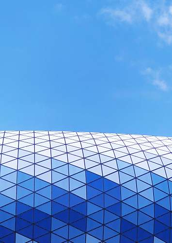building clear blue sky architecture