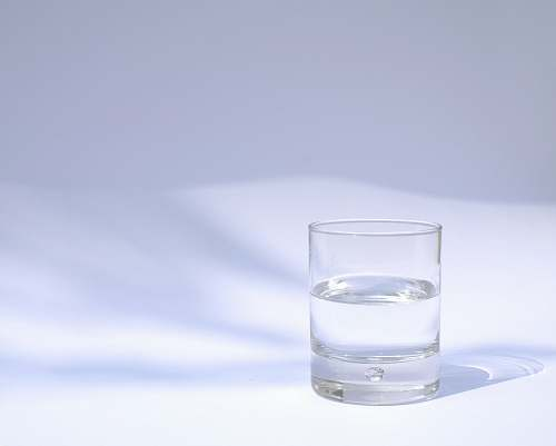 water clear drinking glass filled with water glass