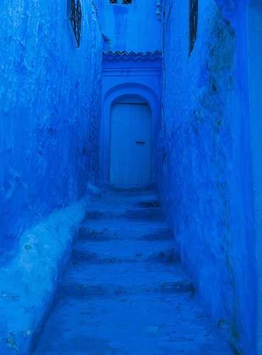 morocco closed door and blue painted wall door