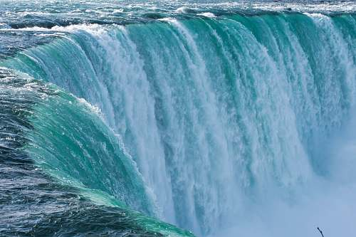 water closeup photo of horseshoe falls nature