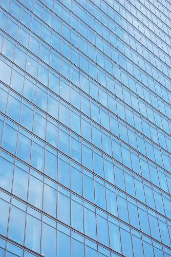building commercial building with glass windows during daytime office building
