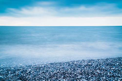 nature gravel on shoreline horizon