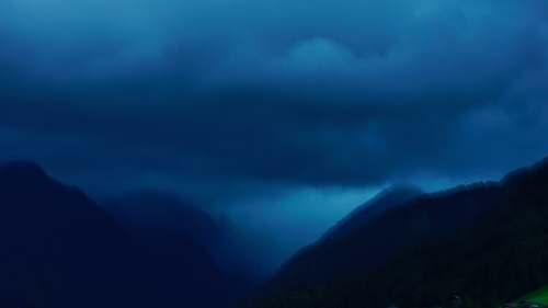 schladming grey clouds under mountain austria