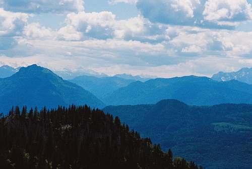 mountain high-angle photography of mountain range mountain range