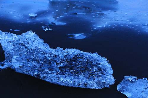 water ice berg on body of water ice
