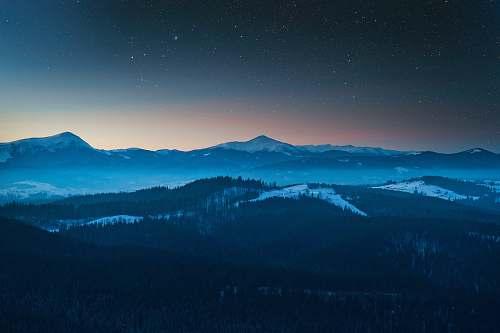 nature landscape photo of mountain during nighttime ukraine