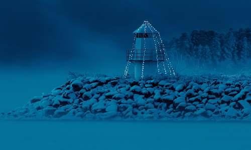 norway lighthouse on rocks hamar