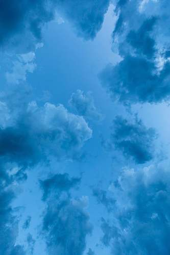 sky low angle view of blue clouds azure sky