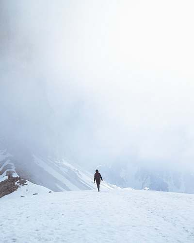 nature man walking on snowfield person