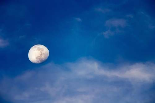 moon moon with cloud sky