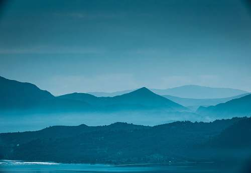 mountain mountain in mist nature