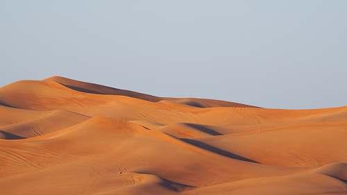 desert photo of desert during sunset nature