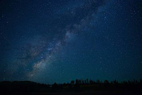 night photograph of milky way space