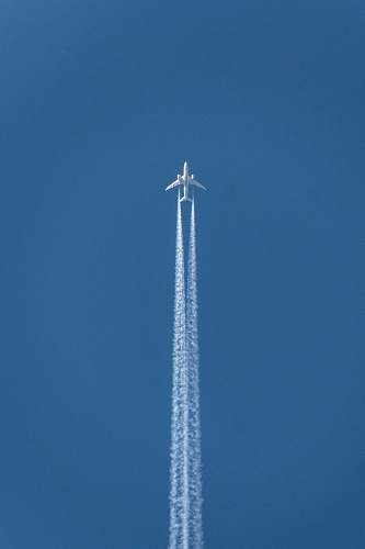 airplane plane doing contrail show transportation