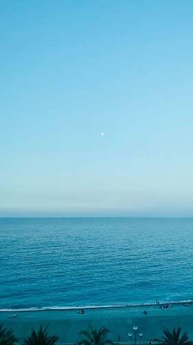 sky sea at daytime beach