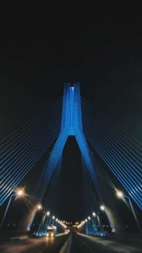 bridge shallow focus photo of bridge night