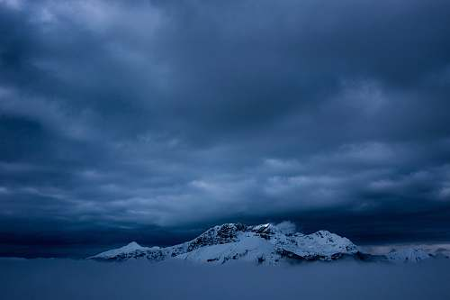 nature snow-covered mountain sky