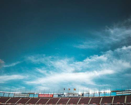 barcelona stadium under clear blue sky spain