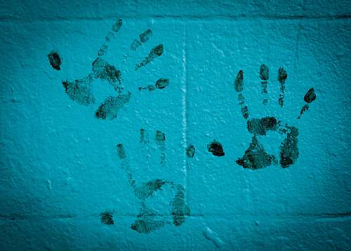 san francisco three hand prints on white wall united states