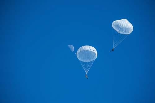 adventure two white parachutes leisure activities
