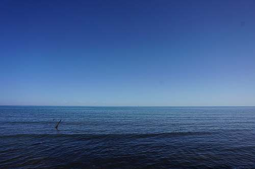 nature view of ocean water under clear blue sky outdoors
