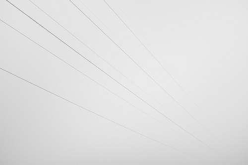 black-and-white white artwork cable