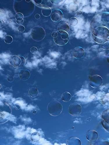 bubble white clouds