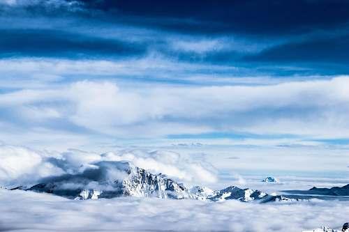 cloud white iceberg sky