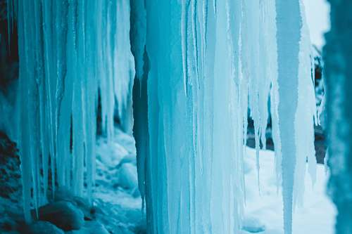 ice white icicles outdoors