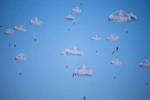 adventure white parachutes during daytime photo leisure activities