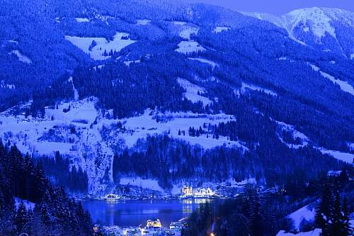 mountain white snow-covered mountain snow